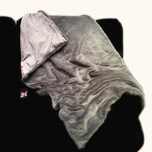 'Smoke Ash' Weighted Blanket / 1.8m x 1.1m