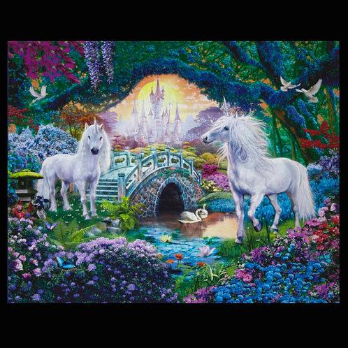 'Garden of Unicorns' Weighted Blanket / 1.1m x 88cm
