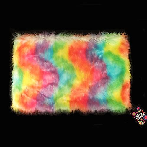 'Rainbow Sherbet' Weighted Lap Blanket / Medium