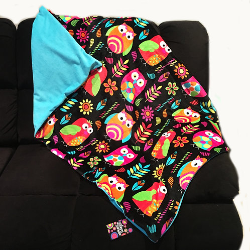 'Cute Hoots' Owls Weighted Blanket