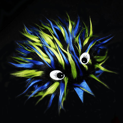 Black Blue Green Critter Fidget Toy