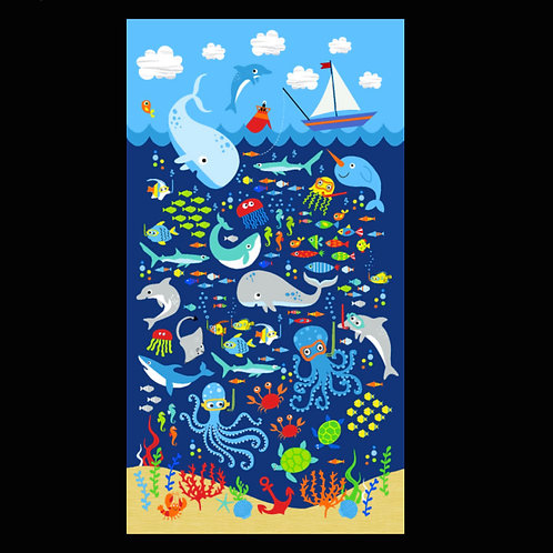 'Under the Sea' Weighted Blanket / 1.1m x 60cm
