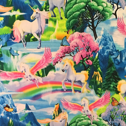 'Magical Unicorn Land' Weighted Lap Blanket / Medium