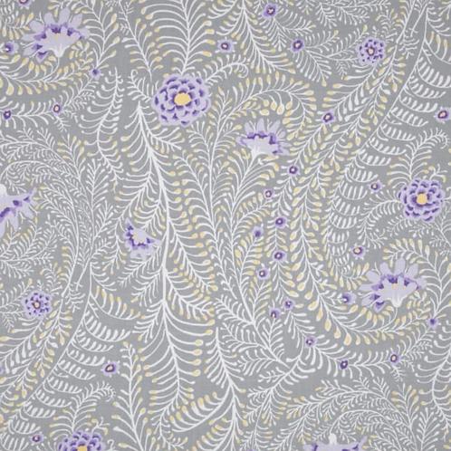 'Floral Ferns' Grey Weighted Blanket // 1.8m x 1.1m // 100% Cotton