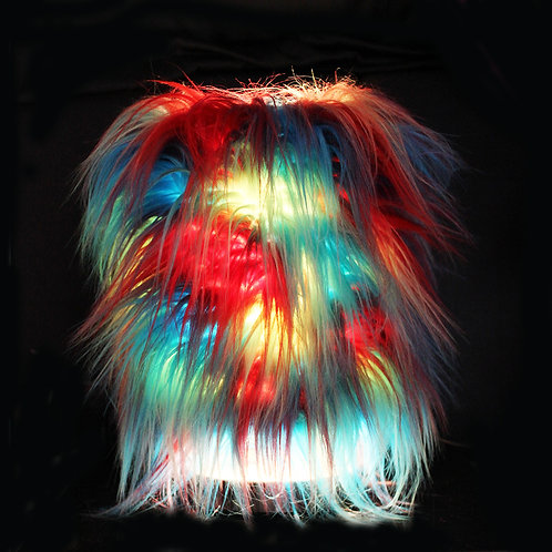 'Red/Blue/Yellow' Furry Touch Lamp