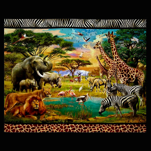 'Jungle Safari' Weighted Blanket / 1.1m x 88cm