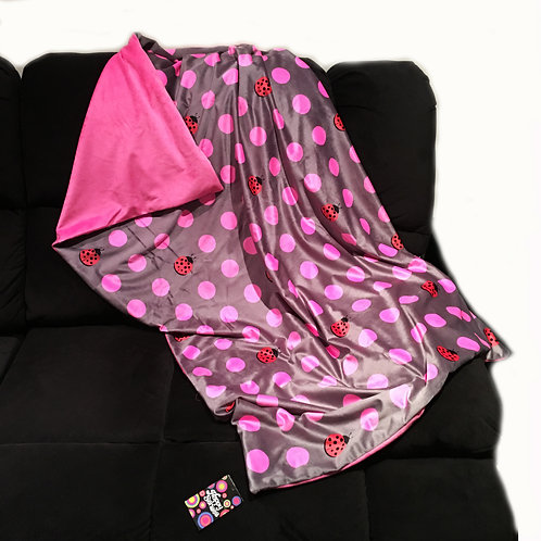 'Ladybugs & Polka Dots' Weighted Blanket / 1.8m x 1.1m