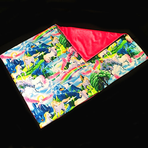 'Magical Unicorn Land' Weighted Lap Blanket / Large / 90cm x 60cm