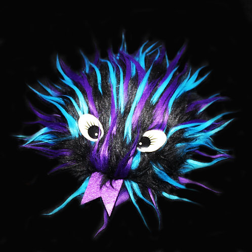 'Purple Blue Black' Critter Fidget Toy