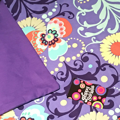 'Purple Paradise' Weighted Blanket // 1.8m x 1.1m // 100% Cotton