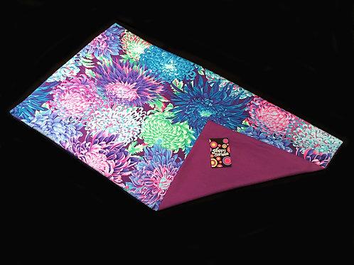 'Wild Chrysanthemums' Weighted Lap Blanket // 90 x 60cm // 100% Cotton