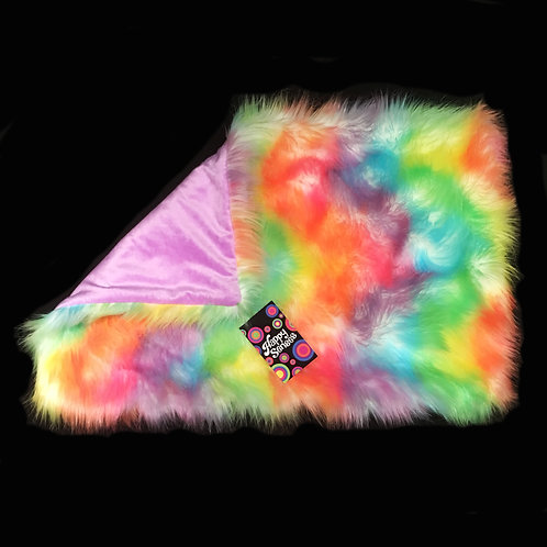 'Rainbow Sherbet' Weighted Lap Blanket / Small