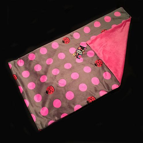 Ladybugs & Polka Dots' Weighted Lap Blanket / Large