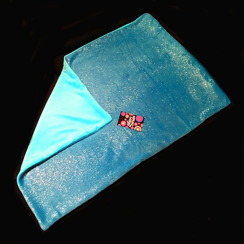 'Blue Sparkles' Weighted Lap Blanket / Large