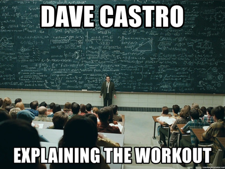 So you want to know what the workout is...