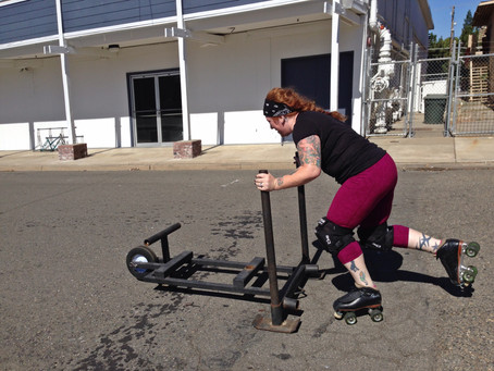 Sled Sprints On Skates- It's Not As Easy As It Looks