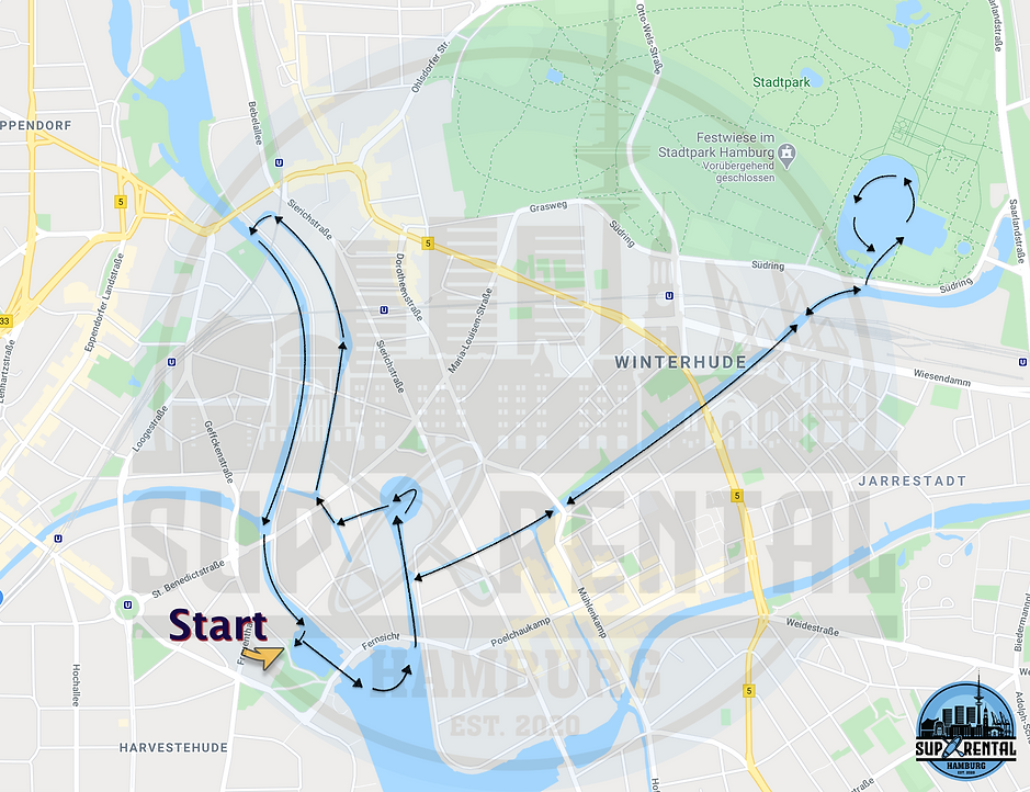SUP Rental Hamburg Tour 1 2