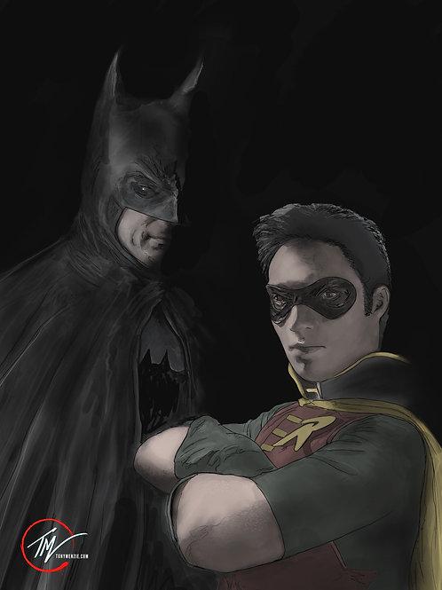 Batman and Robin - Colour -- A3 ART PRINT