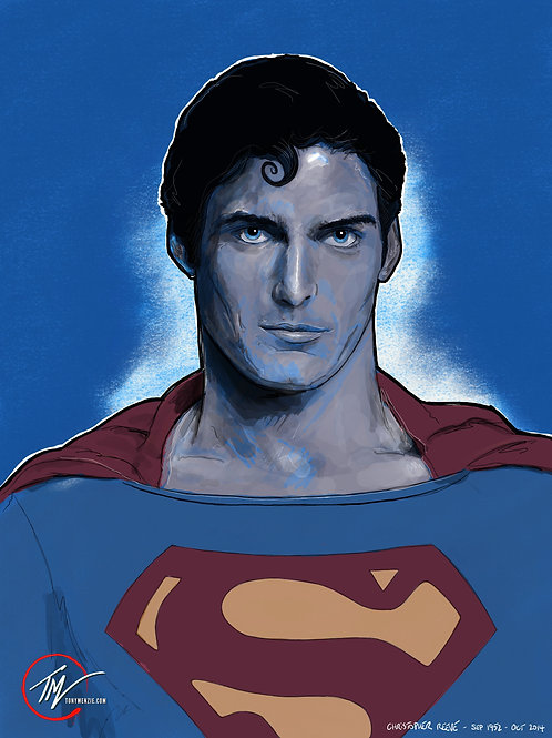 Superman `78 - Portrait -- A3 ART PRINT
