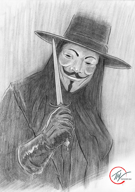 V for Vendetta -- A3 ART PRINT