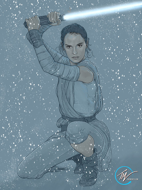 Rey - Snow -- A3 ART PRINT