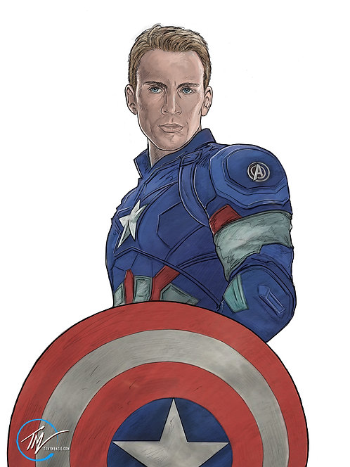 Captain America -- A3 ART PRINT