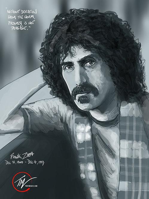 Frank Zappa -- A3 ART PRINT
