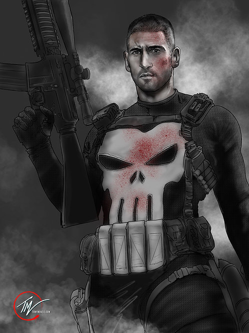 The Punisher --A3 ART PRINT