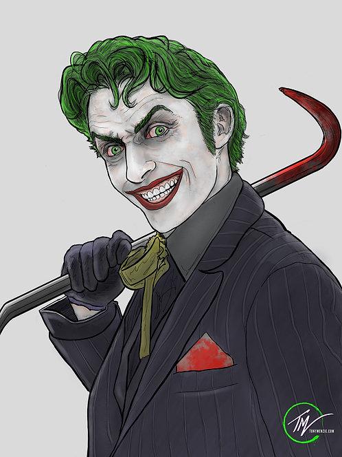 Joker - Smile ( White ) -- A3 ART PRINT