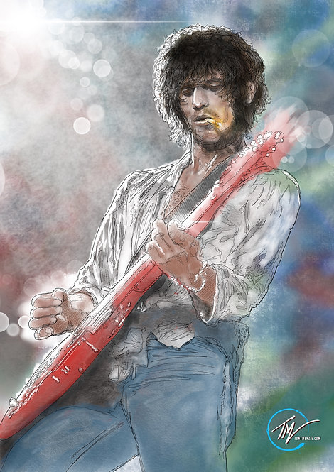 Keith Richards -- A3 ART PRINT