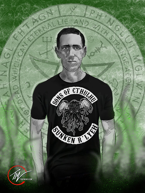 Young Lovecraft -- A3 ART PRINT