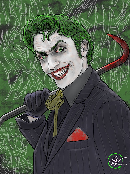 Joker - Smile -- A3 ART PRINT