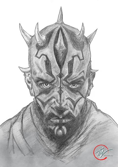 Darth Maul - Sketch B&W.jpg
