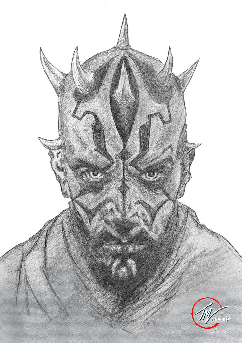 Darth Maul - Sketch B&W.jpg