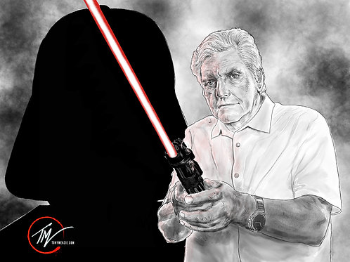 Darth Vader - The Man Behind the Mask -- A3 ART PRINT