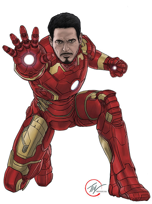 Iron Man -- A3 ART PRINT