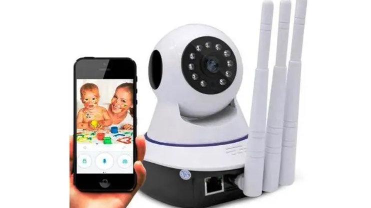 Camera IP 360 Graus Robo Camera On Hd Wifi HD 3 Antenas
