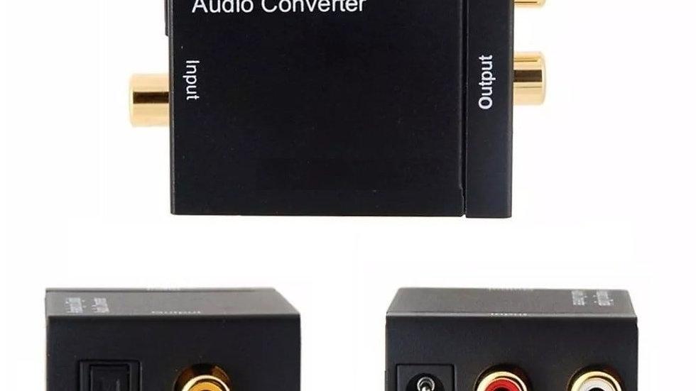 Conversor De Audio Toslink Digital Optico Para Analogico Coaxial Para Rca
