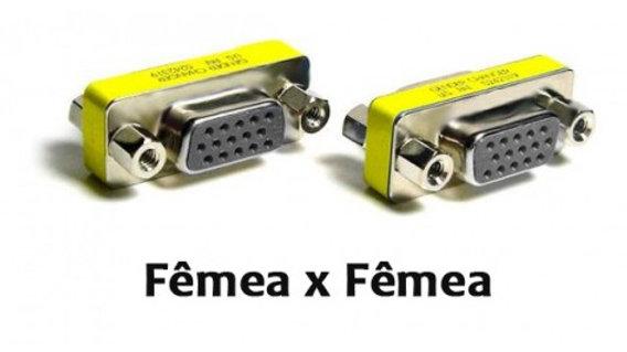 Emenda VGA DB15 Fêmea X DB 15 Fêmea