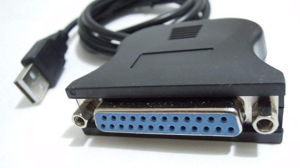 Cabo Conversor USB para Porta Paralela DB25 - Fêmea LPT1
