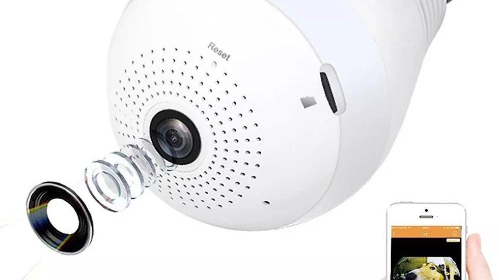 Camera Ip Panoramica Lampada Vr 360 Espia Wifi