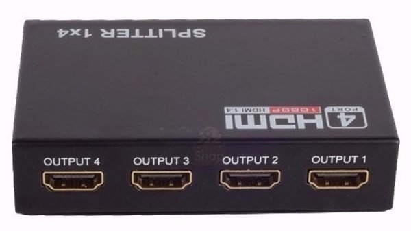 Splitter HDMI V1.4  1 Entrada e 4 Saidas 3D