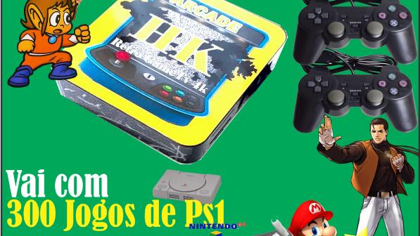 Fliperama multijogos Retrô 11000 mil jogos 2 controle PS2