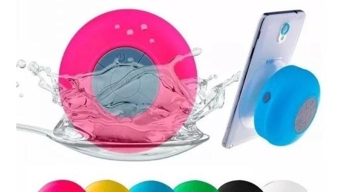 Caixinha Som Bluetooth Prova Água Para Banheiro Ventosa