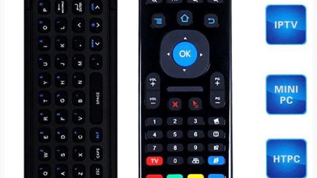 Controle Air mouse com Teclado Embutido no Verso p Tv Box USB WIFI