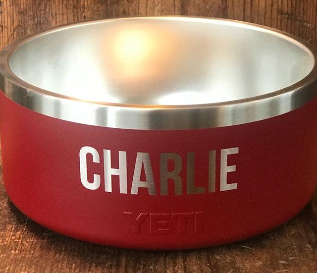 Custom Engraved YETI Dog Bowl, Personalized Dog Bowl, Engraved Yeti Bowls