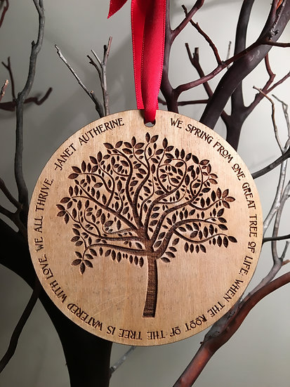 Personalized Modern Tree of Life Christmas Ornament