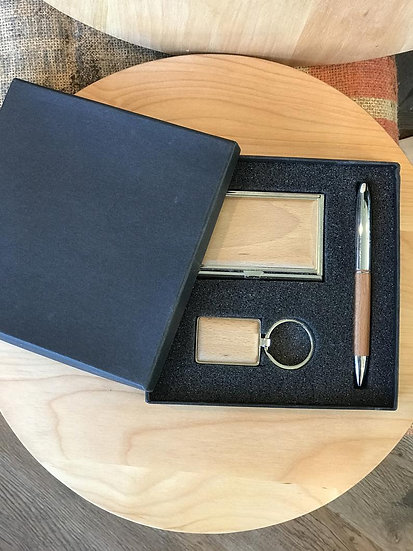 Professional Pen, Business Card & Keychain Box