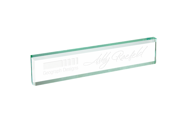 Jade Glass Desk Wedge, Promotional Gifts, Office, Personalized Engraved
