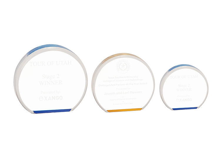 Personalized Acrylic Circle Award, Employee Appreciation Gift, Academic Awards